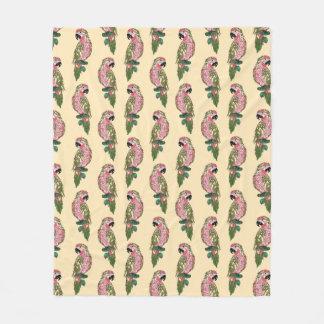 Zentangle Style Parrots Fleece Blanket