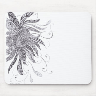 Zentangled Sunflower mousepad