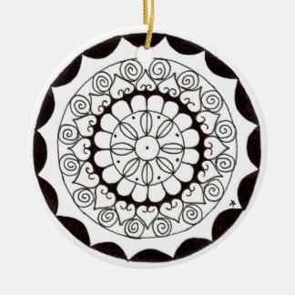 zentnagle mandala - heart flower ornaments
