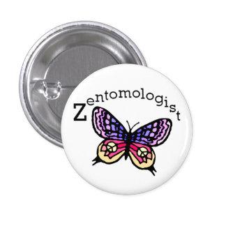 Zentomologist peace butterfly button