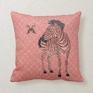 Zenya & Golddust Butterfly Red Ornate Mojo Pillow