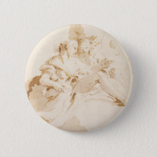 Zephyr and Flora 2 Inch Round Button