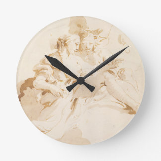 Zephyr and Flora Round Clock