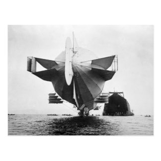 Zeppelin Airship, 1908 Postcard