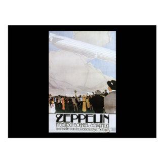 Zeppelin in Deutsch Bohmen Schauflug Postcard