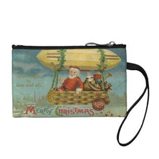Zeppelin Santa Vintage Victorian Funny Christmas Coin Purse