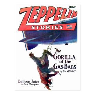 Zeppelin Stories Postcard