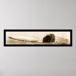 Zeppelin ZR3 Dirigible Huge Photo 1924 Poster