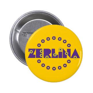 Zerlina de Flores Purpura 2 Inch Round Button