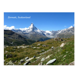 Zermatt Matterhorn Swiss Alps Postcard