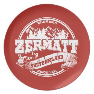 Zermatt Old Circle Red Plate
