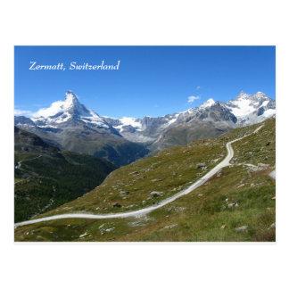 Zermatt Swiss Alps Matterhorn Postcard