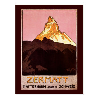 Zermatt Switzerland Postcard