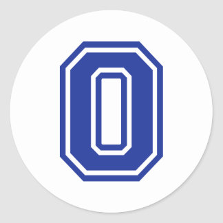 Zero - 0 classic round sticker