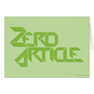 Zero Article Greeting Card