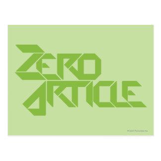 Zero Article Postcard