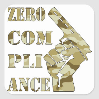 Zero Compliance Pistol Camo Stickers