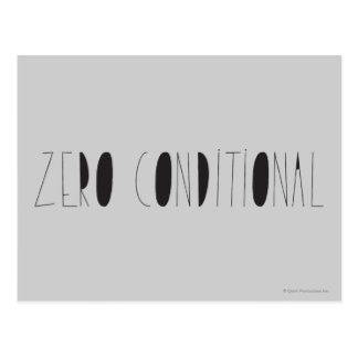 Zero Conditional Postcard