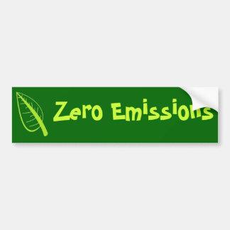 Zero Emissions Bumper Sticker