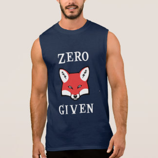 Zéro (Fox) donné T-shirt Sans Manches