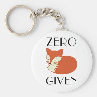 Zero Fox Given Basic Round Button Keychain