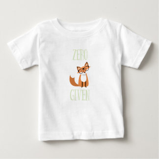 Zero Fox Given Funny Animal Fox Baby T-Shirt