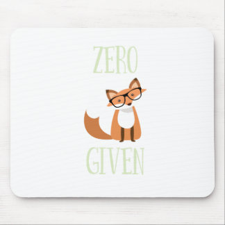 Zero Fox Given Funny Animal Fox Mouse Pad