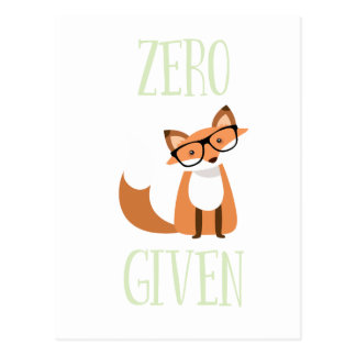 Zero Fox Given Funny Animal Fox Postcard
