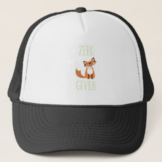 Zero Fox Given Funny Animal Fox Trucker Hat