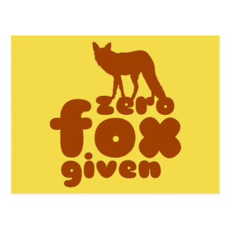 Zero FOX Given Postcard