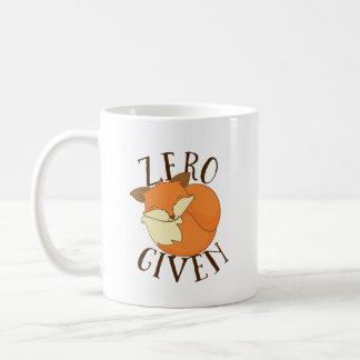 Zero Foxes Given Coffee Mug