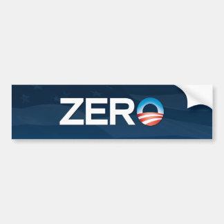 """""""Zero"""" Obama Bumper Sticker"""