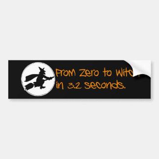 Zero to Witch Silhouette Style Bumper Sticker