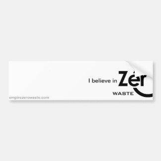 Zero Waste Advocate Bumper Sticker