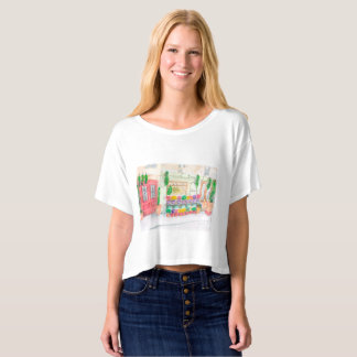 Zest for Life with Parisian flowers T-shirt