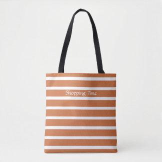 Zest Neutral Stripes Tote Bag