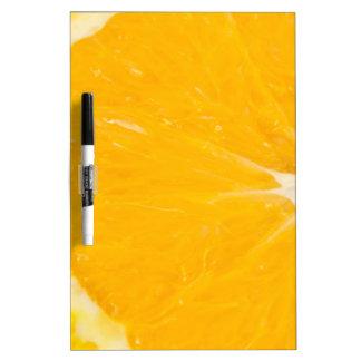 Zesty orange. dry erase board