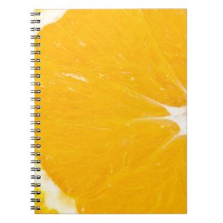 Zesty orange. notebooks