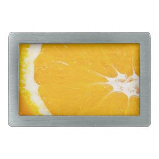 Zesty orange. rectangular belt buckle