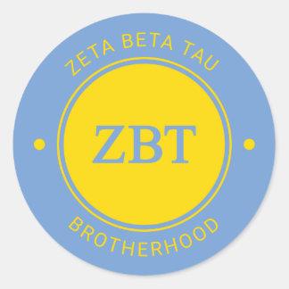 Zeta Beta Tau   Badge Classic Round Sticker