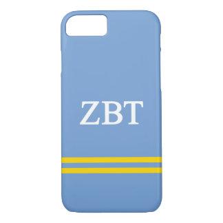 Zeta Beta Tau   Sport Stripe iPhone 8/7 Case