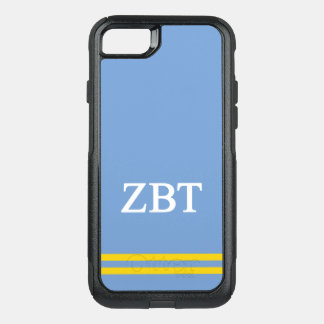 Zeta Beta Tau | Sport Stripe OtterBox Commuter iPhone 8/7 Case