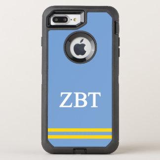Zeta Beta Tau   Sport Stripe OtterBox Defender iPhone 8 Plus/7 Plus Case