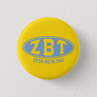 Zeta Beta Tau | Vintage 1 Inch Round Button