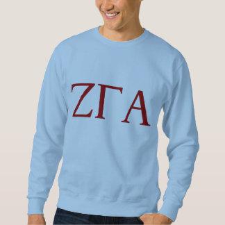 Zeta Gamma Alpha Fraternity Blue Letter Sweatshirt