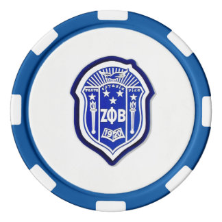 Zeta Phi Beta - Motivate, inspire, and encourage! Poker Chips