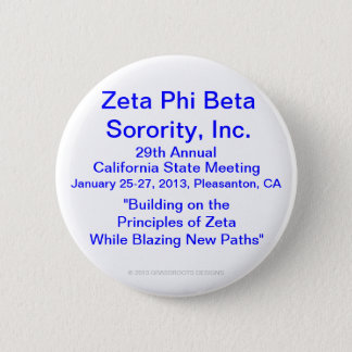 Zeta Phi Beta Sorority, Inc., 29th Annual Meeting 2 Inch Round Button