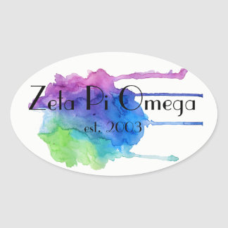 Zeta Pi Omega Watercolor Sticker