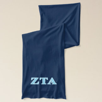 Zeta Tau Alpha Baby Blue Letters Scarf