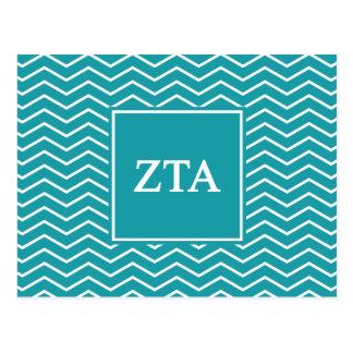 Zeta Tau Alpha | Chevron Pattern Postcard